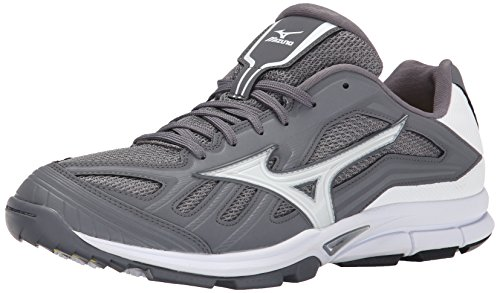 Mizuno Mens Player Trainer Turf Shoe Grigio / Bianco