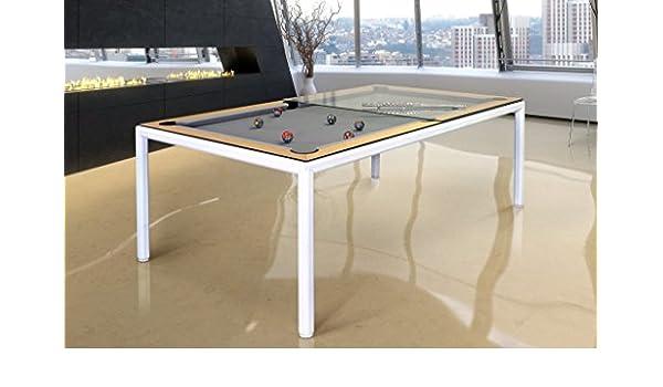 Amazoncom Vision Billiards Ultra Slimline Convertible Dining And - White billiard table