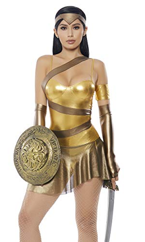 Forplay Women's Golden Amazonian Hero Costume, Gold, S/M -