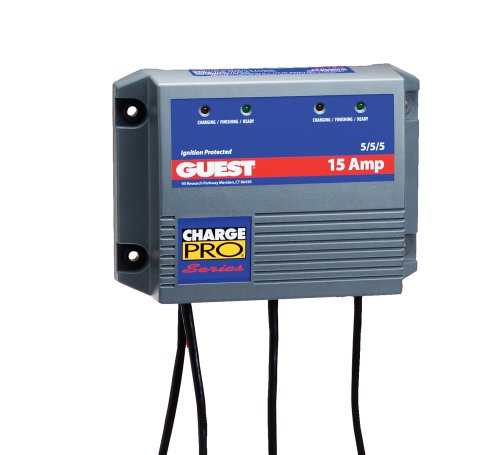 Guest 2613A Charge Pro Series Marine Battery Charger (12/24-Volt, 15-Amps 5/5/5, Triple Output) (Charger Battery Guest)