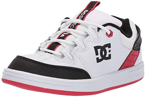 DC Boys' Syntax Sneaker White/Black/Athletic RED 12 M M US Little - Dc Athletic Shoes Sandals