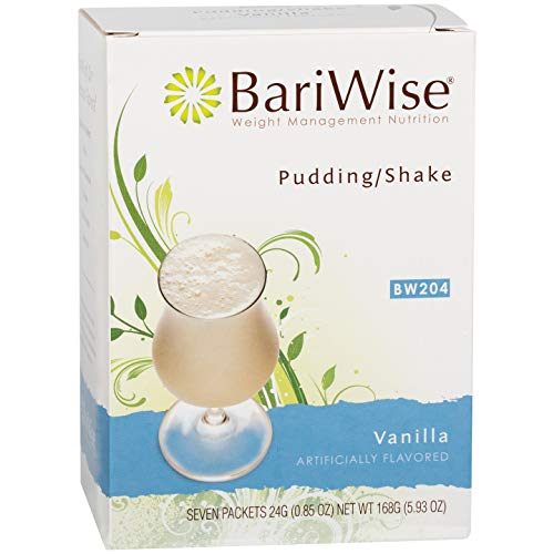 BariWise High Protein Shake / Low-Carb Diet Pudding & Shake Mix - Vanilla (7 Servings/Box) - Gluten Free, Fat Free, Low Carb