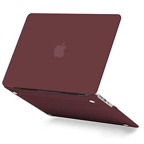 MacBook Air 13 Inch Case Older Version Compatible A1369/A1466 2008-2017 Release NO Touch ID, GMYLE Hard Plastic Shell Matte Scratch Guard Cover for Apple Mac Air 13- Burgundy