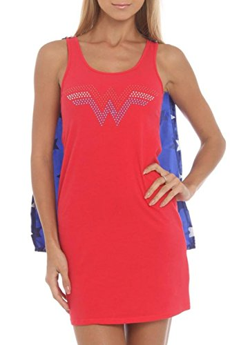 DC Heroes Wonder Woman Sleep Tank-Top With Cape