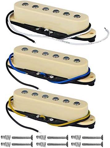 Bridge 48//50 Haude 3PZ Set Pickup Single Coil Pickup Chitarra Elettrica Neck 52Mm per Accessori Chitarra FD Strat Middle