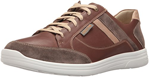 Mephisto Men's Frank Oxford, Dark Taupe Orsay Chestnut/Camel Polo, 10 M US