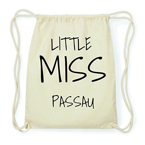 JOllify PASSAU Hipster Turnbeutel Tasche Rucksack aus Baumwolle - Farbe: natur Design: Little Miss xTHxi