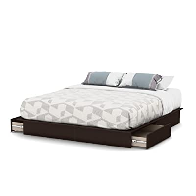 South Shore Step One Collection Full / Queen 54/60-Inch Storage Platform Bed