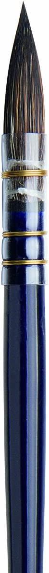 da Vinci Watercolor Serie 418 Petit Gris Pure Pinselpinsel Cosmotop Mix B French Quill Size 0 schwarz