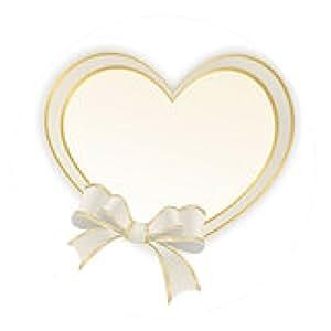 alfombrilla de ratón Corazón con lazo en color beige - ronda - 20cm
