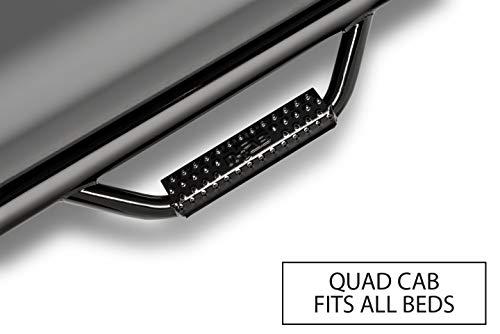 Ford Quad Cab - N-Fab F0473QC Gloss Black Nerf Step; Cab Length Ford F150 / Lobo Quad Cab All Beds 04-08