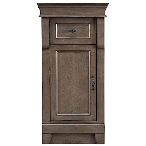 Home Decorators Collection Naples 16-3/4 in. W x 34 in. H Bathroom Linen Storage Floor Cabinet in Distressed Grey