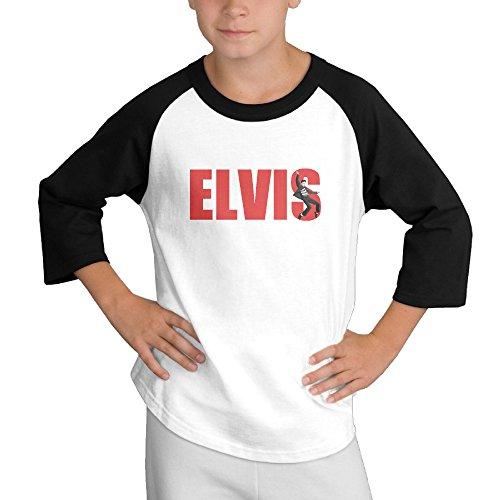 MULTY9 Elvis Presley Child Youth 3/4 Raglan T-Shirt Top Medium