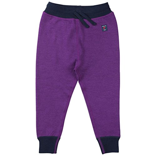 Polarn O  Pyret Wool Terry Long Johns  Baby    6 12 Months Grape Royale