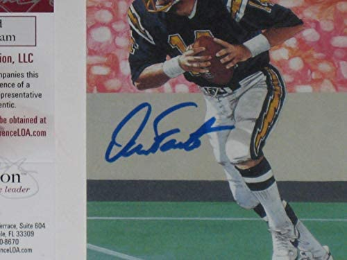 Dan Fouts San Diego Chargers HOF 1993 Autographed Goal Line Art Card #4495//5000