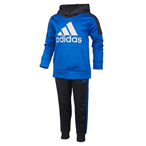 adidas Boys' 2-Piece Athletic Jacket and Pants Activewear Set Outfit Size 4, 6 (4) -