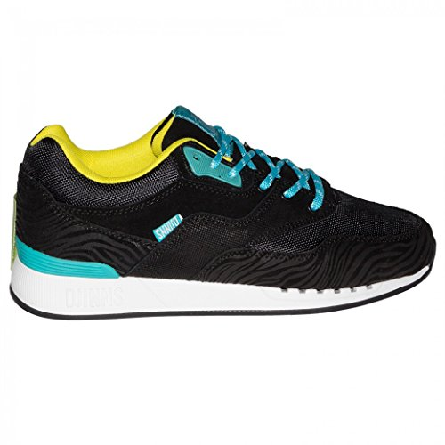 Djinns Shoes Rough Run Tiger Leather Black 80T1hCpN