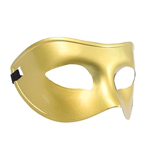 Classic Men Masquerade Costume Ball Half Face Eye Mask Sexy Party Dress - Gold