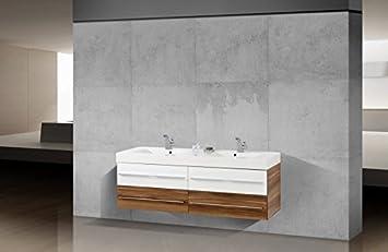 Badmöbel doppelwaschtisch günstig  Novelli Badmöbel Set mit Doppelwaschtisch 160 cm: Amazon.de: Küche ...