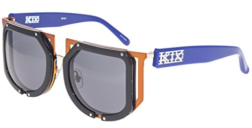 KTZ x Linda Farrow Football Orange Blue Black Sunglasses POLARIZED KTZ - Sunglasses Ktz