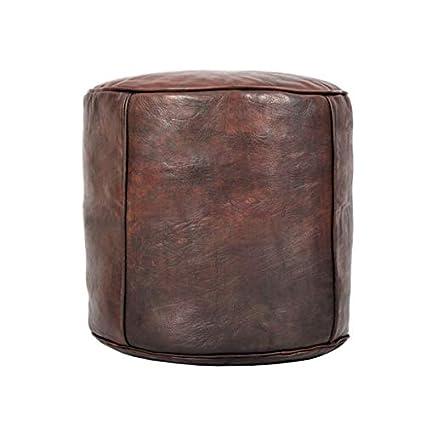 Amazoncom Moroccan Pouf Leather Leather Pouf Ottoman Morrocan Pouf