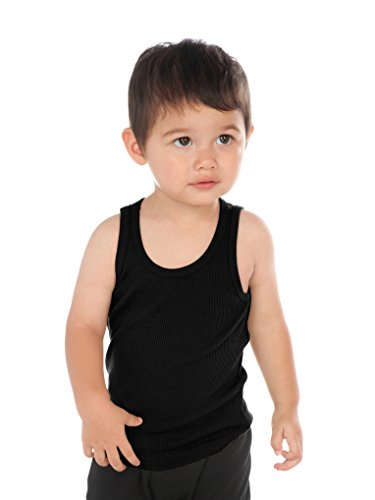 Kavio! Unisex Infants Beater Tank (Same I2C0236) Black 18M (Boy Beater Tank)