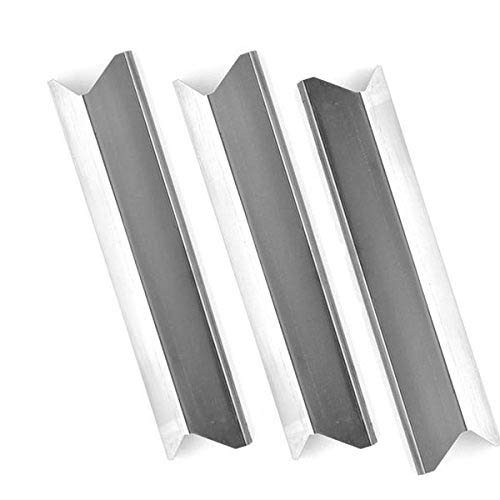 3 Pack Replacement Stainless Steel Heat Shield for Kenmore 119.16433010, Master Forge B10LG25, Perfect Flame SLG2007A, 61701 and BBQTEK GSF2818K, GSF2818KH Gas Grill Models by Grill Parts Zone
