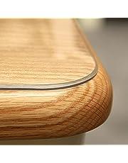 ZZeng RS Genomskinligt bordsskydd, transparent PVC bordsduk vattentät plast skrivbordsunderlägg halkfri repbeständig bordsskydd