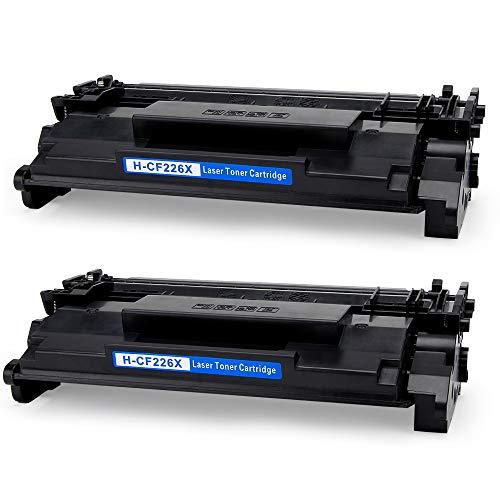 JIMIGO 2 Black 26X CF226X Compatible Toner Cartridges for HP 26X CF226X 26A Toner, High Yield, Compatible with HP Laserjet Pro M402n M402dn M426fdw M402dw M402dne, HP Laserjet Pro MFP M426fdw M426fdn