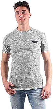 Antony Morato T-Shirt Girocollo A Righe con Tape Al Collo Camiseta de Tirantes para Hombre