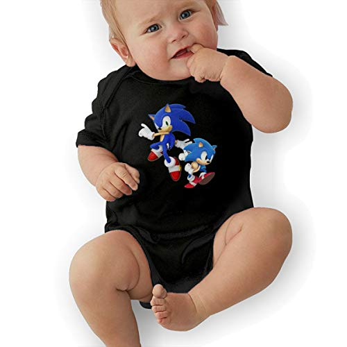 HiPiClothK Babys Sonic Hedgehog Fashion Comfortable Short Sleeve Jumpsuit Outfits 6M ()