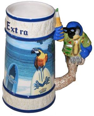 Corona Extra Blue Parrot Ceramic Beer - Corona Sunglasses