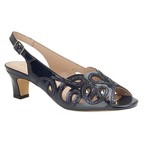 Lotus Marianna Womens Smart Sling Back Shoes Navy