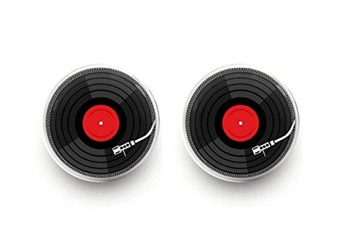 (Vinyl Record Earrings Retro Music Earrings DJ Earrings Stud Jewelry)