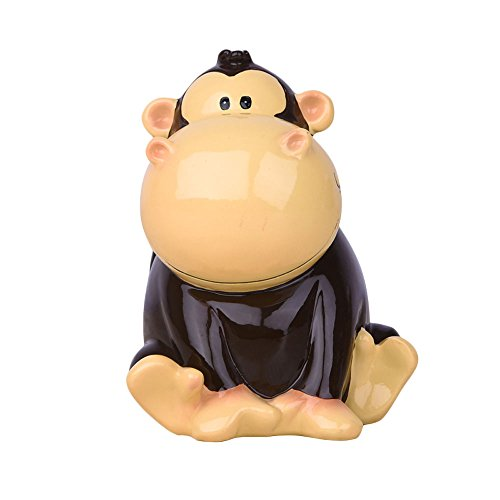 (Baidecor Resin Black Monkey Money Box Piggy Bank)