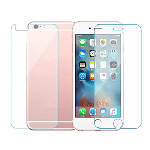 careflection scratch resistant screen protector front and back tempered glass for apple iphone 6s  Transparent