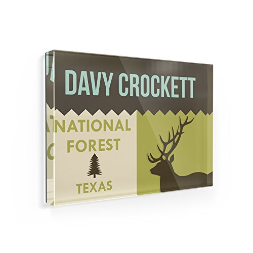 Fridge Magnet National US Forest Davy Crockett National Fore