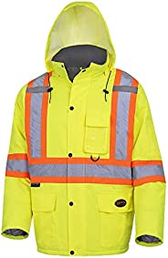 Pioneer Waterproof CSA High-Visibility Winter Safety Parka, 28º C Insulation, Multi-Pockets & Lightweight,