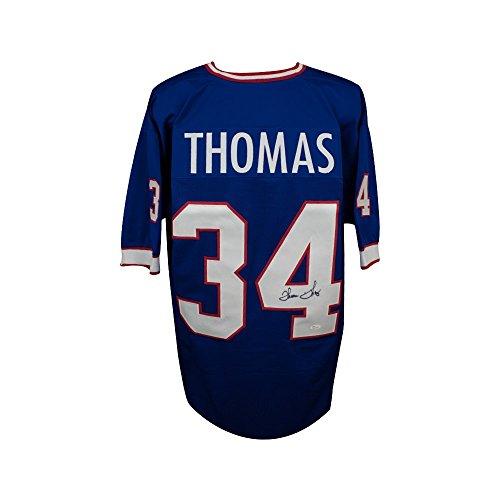 Thurman Thomas Autographed Buffalo Bills Custom Blue Football Jersey - JSA COA
