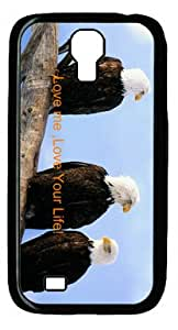 The Bird Standing on the Deadwood DIY Hard Shell Black Samsung Galaxy S4 I9500 Case Perfect By diycenter