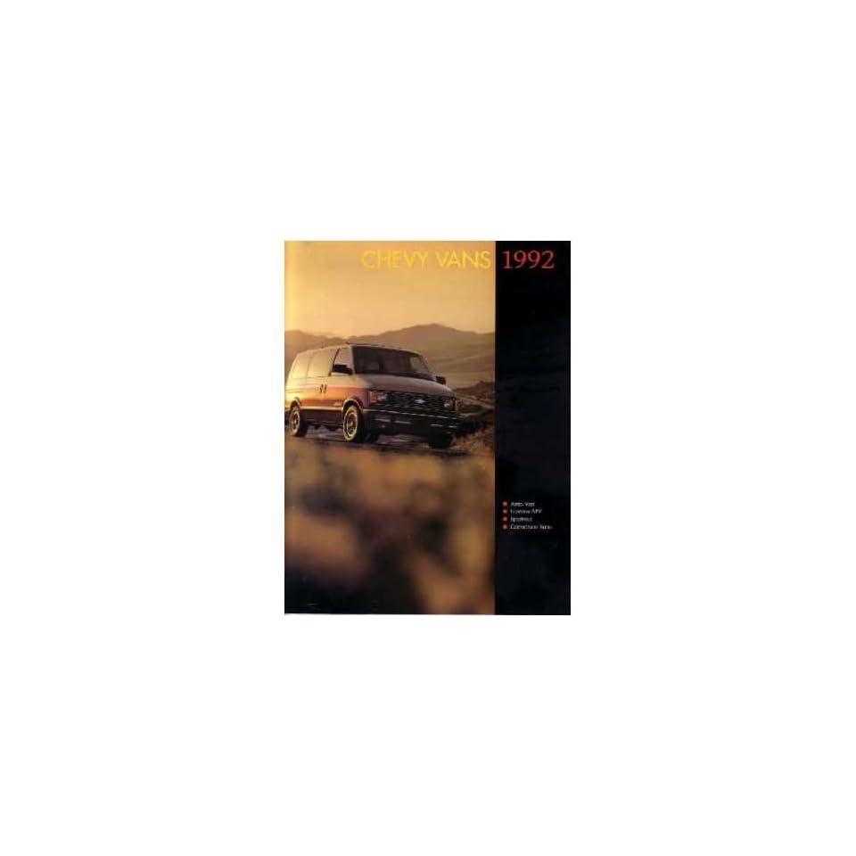 1992 Chevrolet Van Sales Brochure Literature Book Piece Specs Options