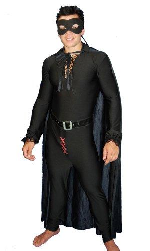 [Sexy Masked Man Costume One-Size Black] (Masked Bandit Costume)