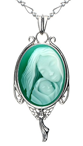Baby Agate Cameo Pendant - 4