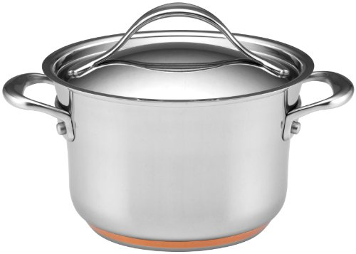 Anolon Nouvelle Copper Stainless Steel 3-1/2-Quart Covered Saucepot ()