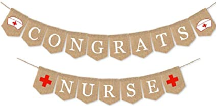 Nurse Graduation Garland Banner 3pcs 2021 Nurse Graduation Banner Senior College Medical Graduation Party for Nurse Graduation Theme Party Supplies Decorations