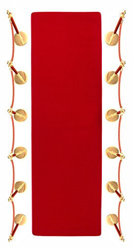 10' Red Carpet Aisle Runner and Party Accessory by Trademark - Carpet Red Dark