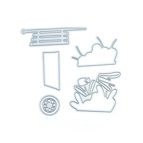 (キッズ ホウス)KIDS HOUSE 車の花 スクラップブッキング ダイカット エンボステンプレート ペーパーエンボス 切削ステンシル 切り抜き紙を作れる型の商品画像