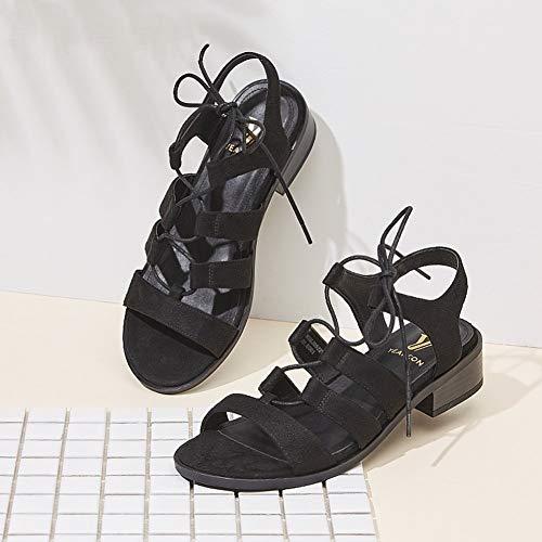 Pour 4 Lpymx A cn37 De Taille couleur uk4 À 5 Sandales Rétro B Croisées 235 Chaussures Femmes Bas Eu37 Talons Bretelles Plage 5qrSTfq
