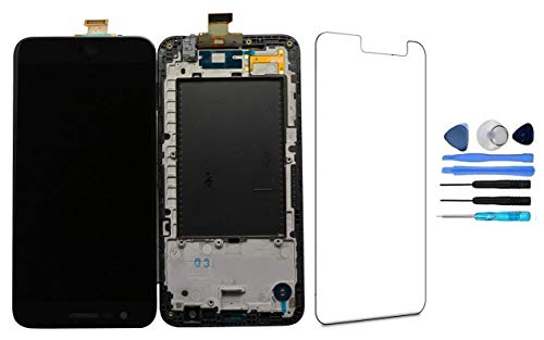 LCD Display Touch Screen Digitizer Glass Assembly with Frame for LG K20 Plus K10 Verizon VS501 T-Mobile TP260 MP260 Black Replacement Repair Part + Tool
