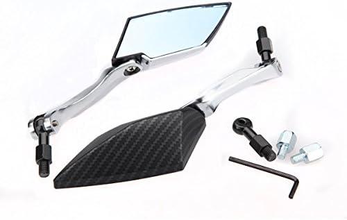 Blanc GOZAR R/étroviseur Lat/éral Moto pour Yamaha//Honda//Suzuki//Kawasaki